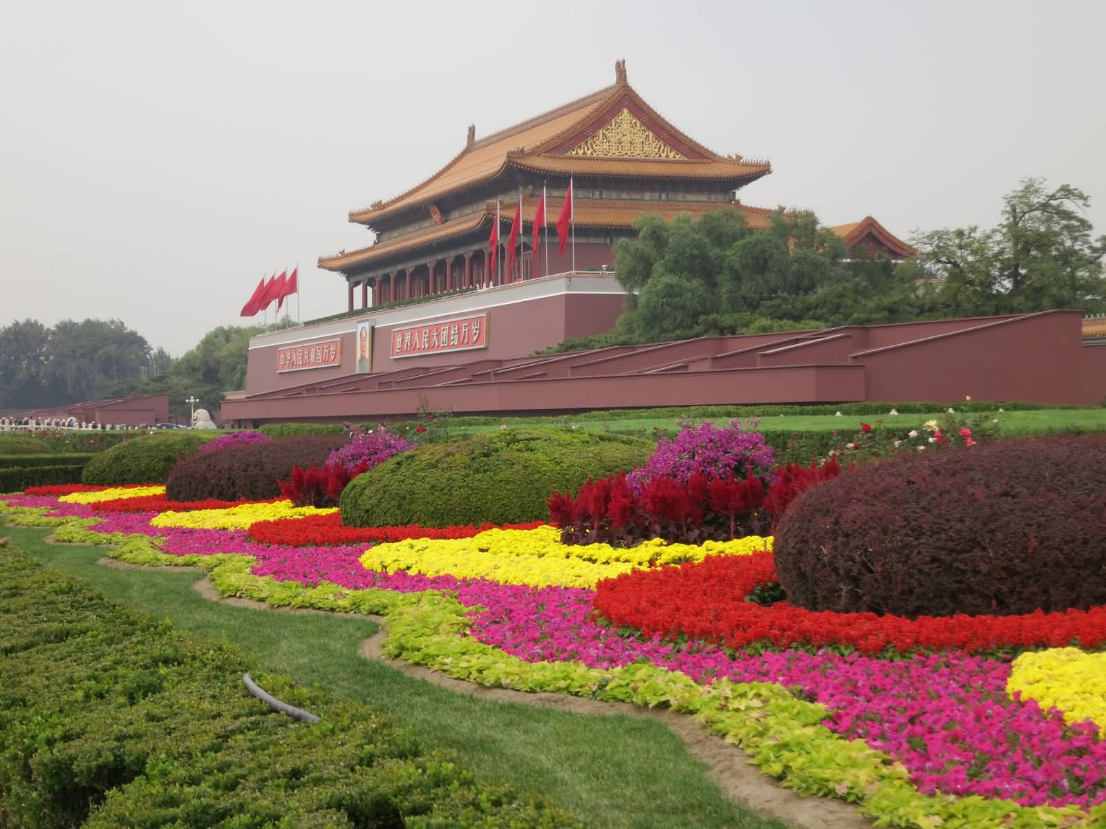 Exceptionnel Flowers Garden Of Forbidden City In Beijing