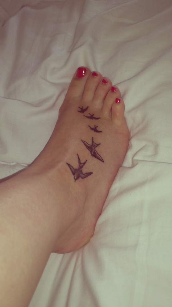 Bird Foot Tattoos