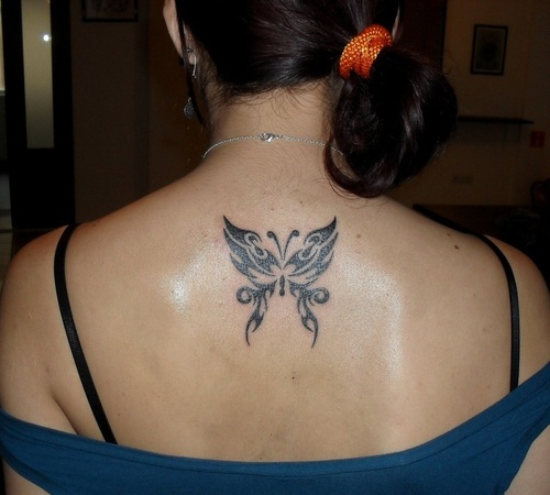 20 nice butterfly tribal tattoos - Tribal papillon ...