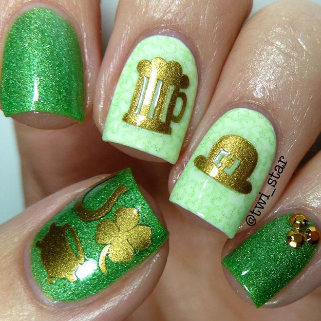 25 Amazing Saint Patrick\'s Day Nail Art Designs