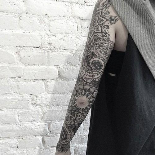 35 full sleeve mandala tattoos. Black Bedroom Furniture Sets. Home Design Ideas