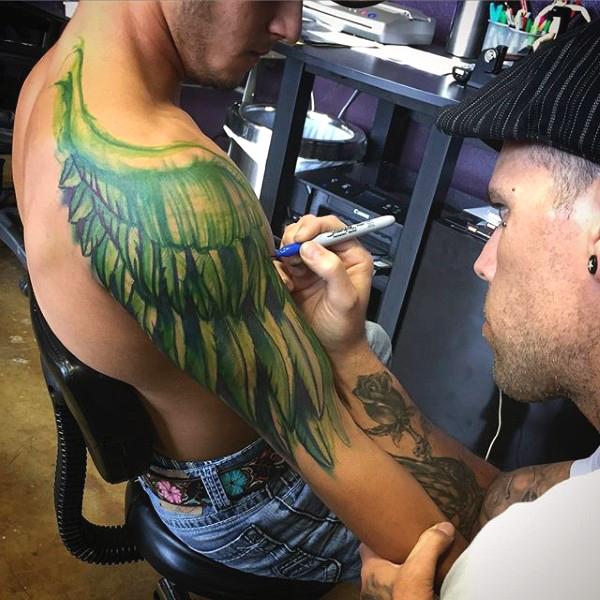65 Angel Tattoos For Men Shoulder