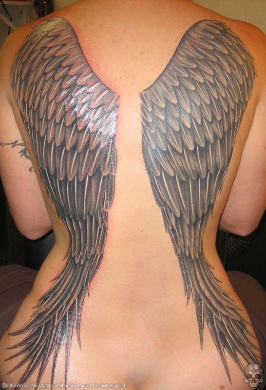 40+ Angel Wings Tattoos On Back