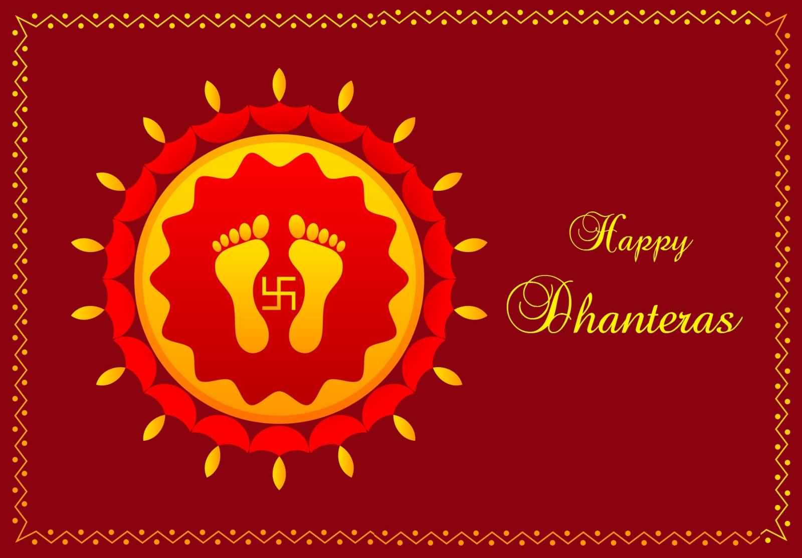 Happy dhanteras footprints of goddess lakshami greeting card m4hsunfo