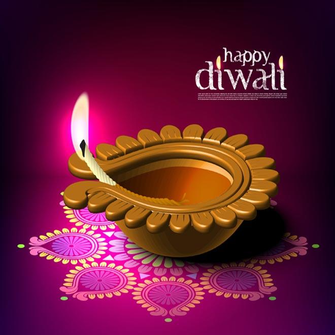 60 beautiful diwali wishes and greetings happy diwali beautiful diya and rangoli picture m4hsunfo