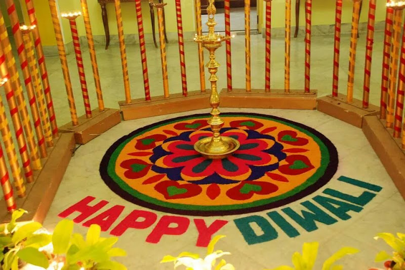 20 beautiful diwali decoration ideas for office and home for Home decorations on diwali