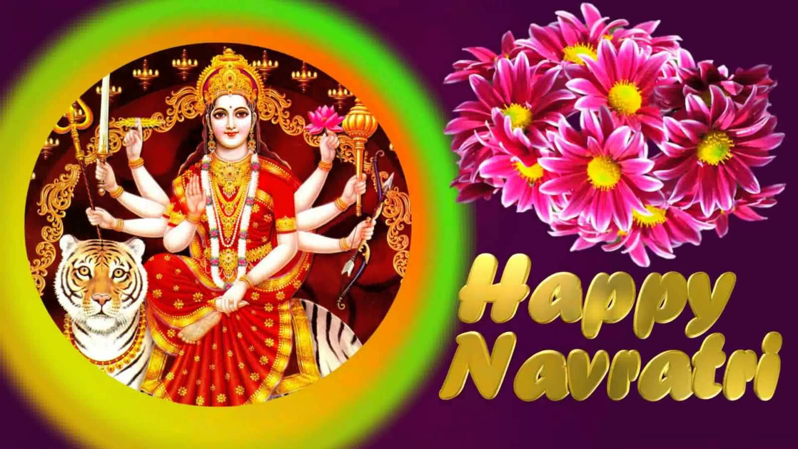 Happy navratri wishes with flower kristyandbryce Choice Image