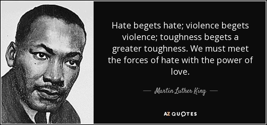 Image result for hate begets hate