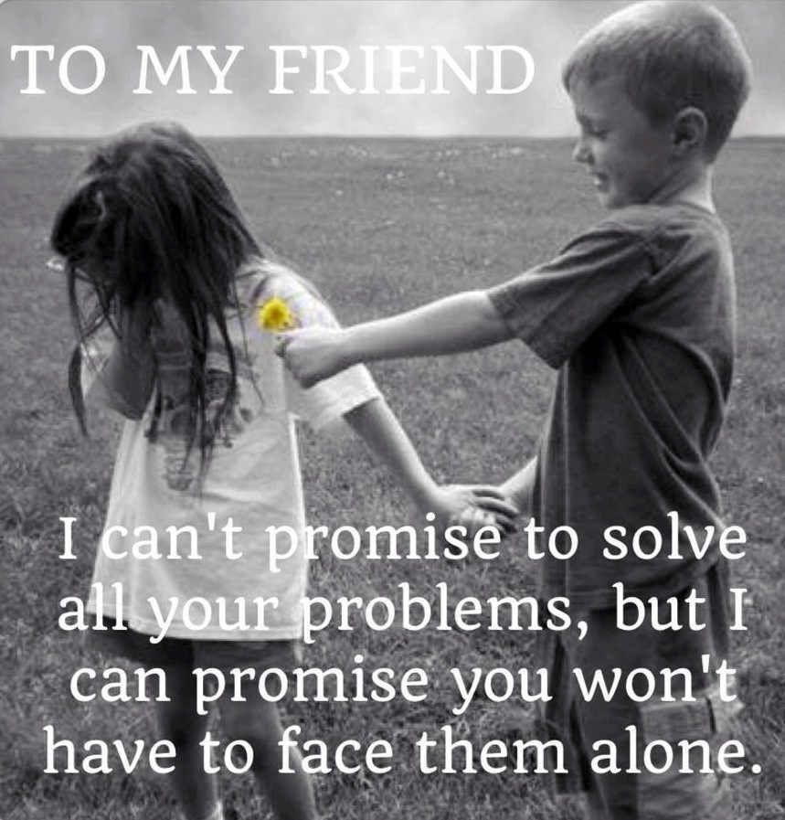 I can't promise to solve all your problems But I'll promise you wont have to face them alone.