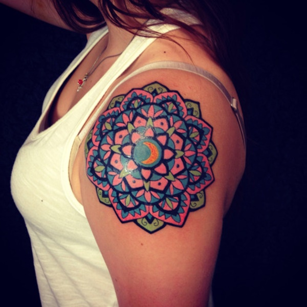 38+ Colored Mandala Tattoos Collection
