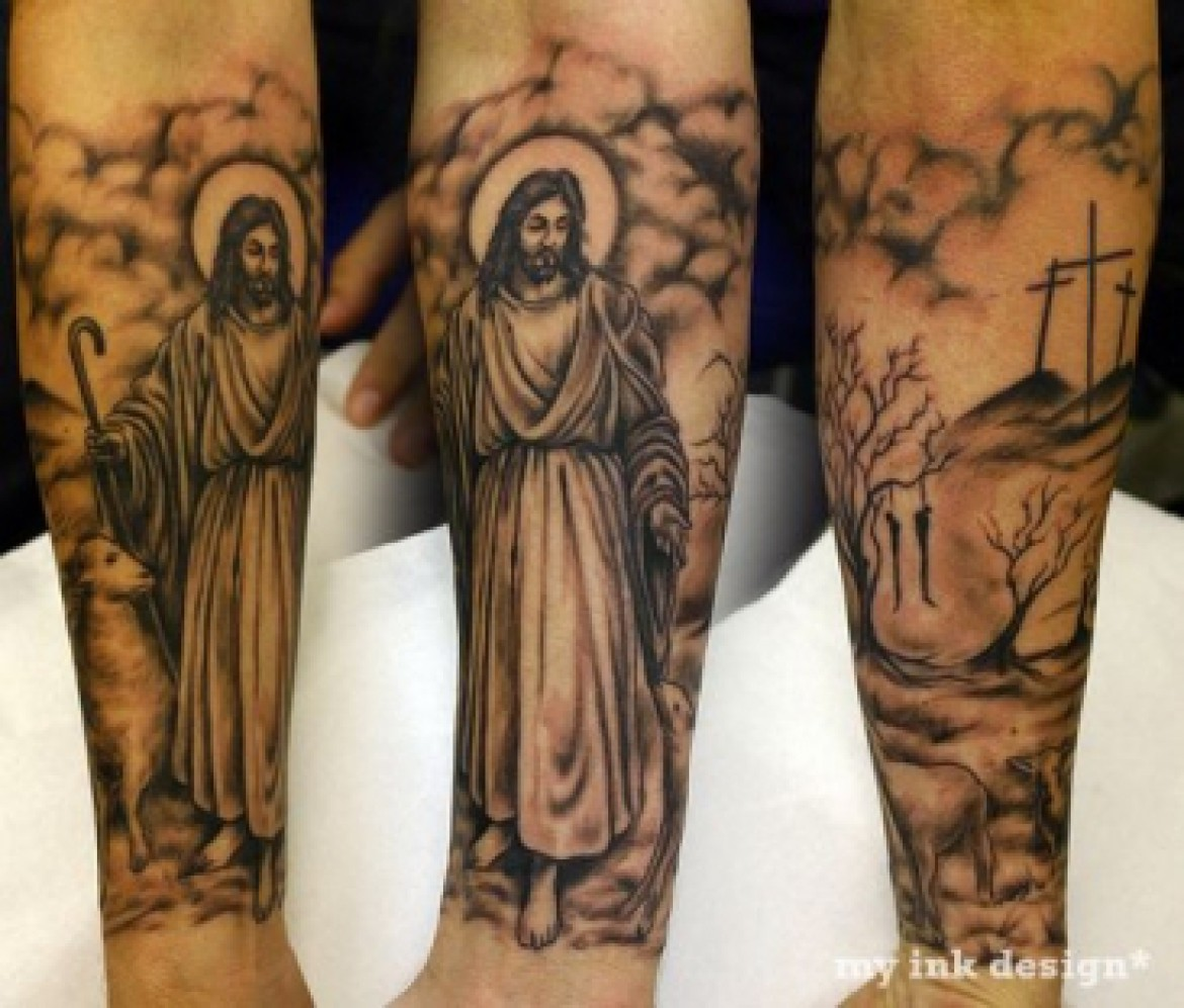 30+ Christian Tattoos On Sleeve