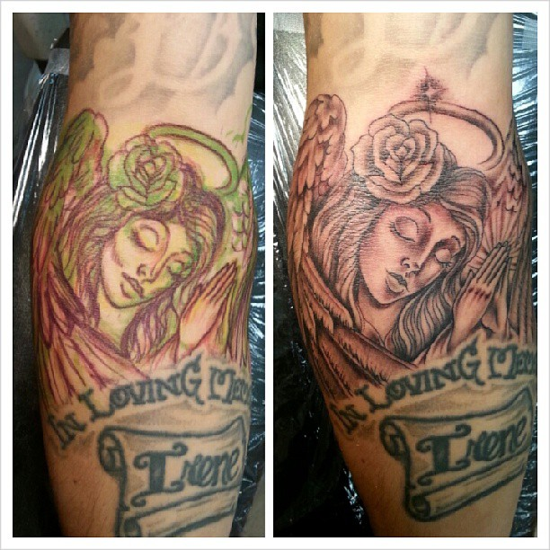 8 angel tattoos in memory off tattoo designs for Angel tattoos in memory of