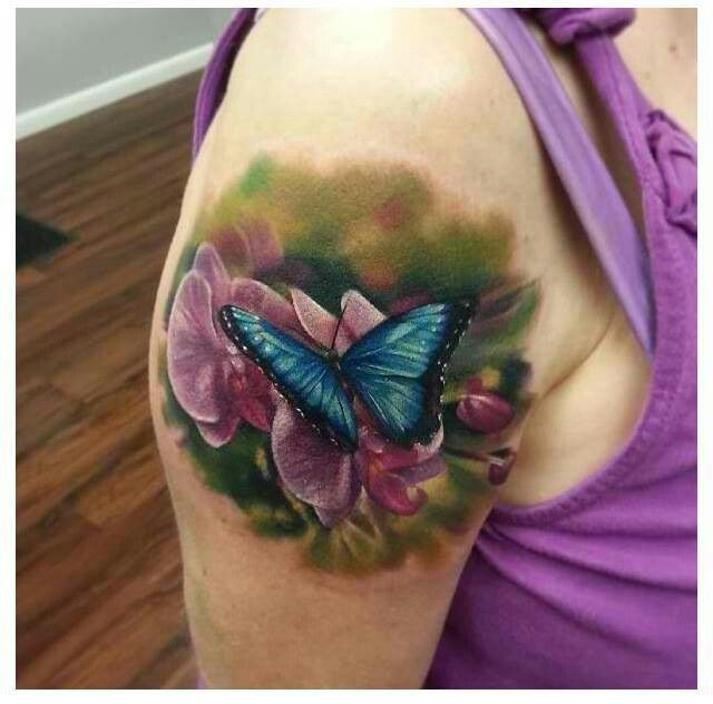 55 butterfly flower tattoos for Flowers for a tattoo