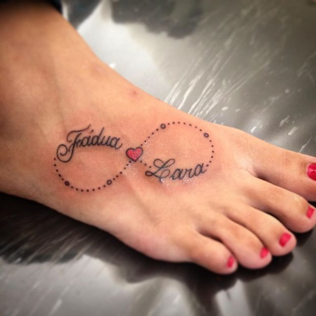 Name Heart Tattoos: 10+ Infinity Heart Tattoos On Foot