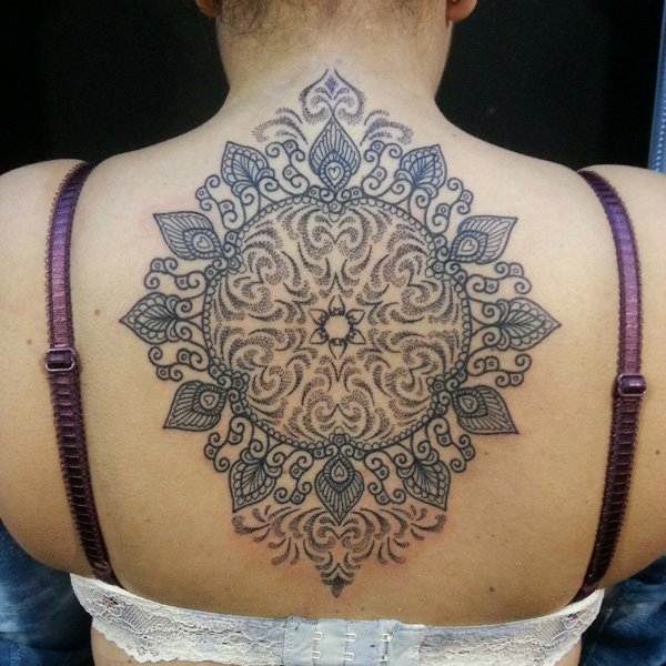 45 Mandala Tattoos Ideas For Back
