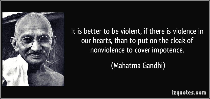 violence is not the answer gandhi biography