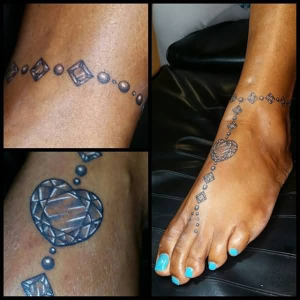 ankle tattoos female jewelled women tattoo for beautiful anklet bracelet bracelets