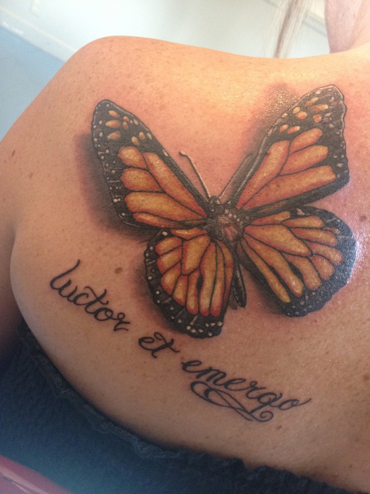 30 simple butterfly tattoos for Images of butterfly tattoos