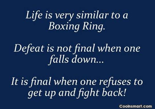 Fighting In The Ring Quotes
