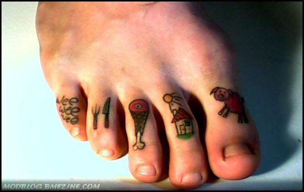 64 best toe tattoos collection
