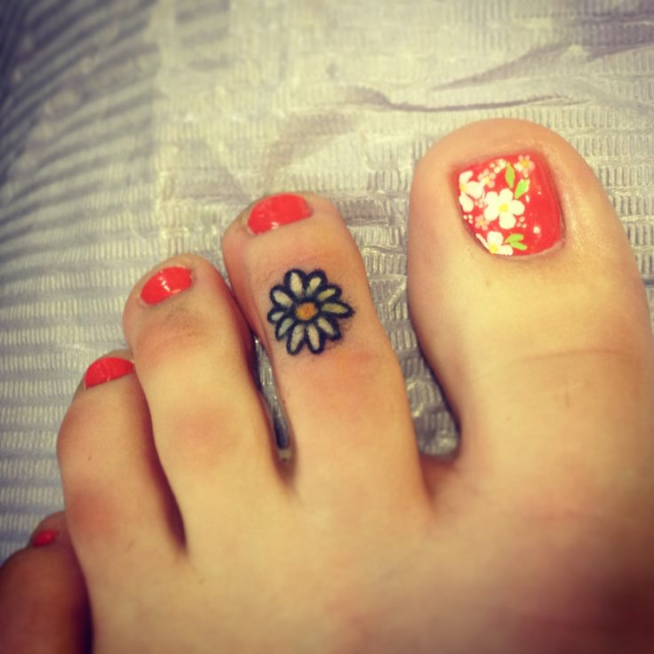 ae875a1fc Little Toe Flower Tattoo For Girls
