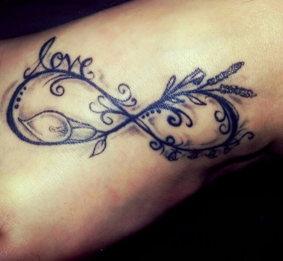 Infinity Love Tattoo On Foot Stylish Star In...