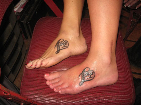 10 infinity heart tattoos on foot. Black Bedroom Furniture Sets. Home Design Ideas