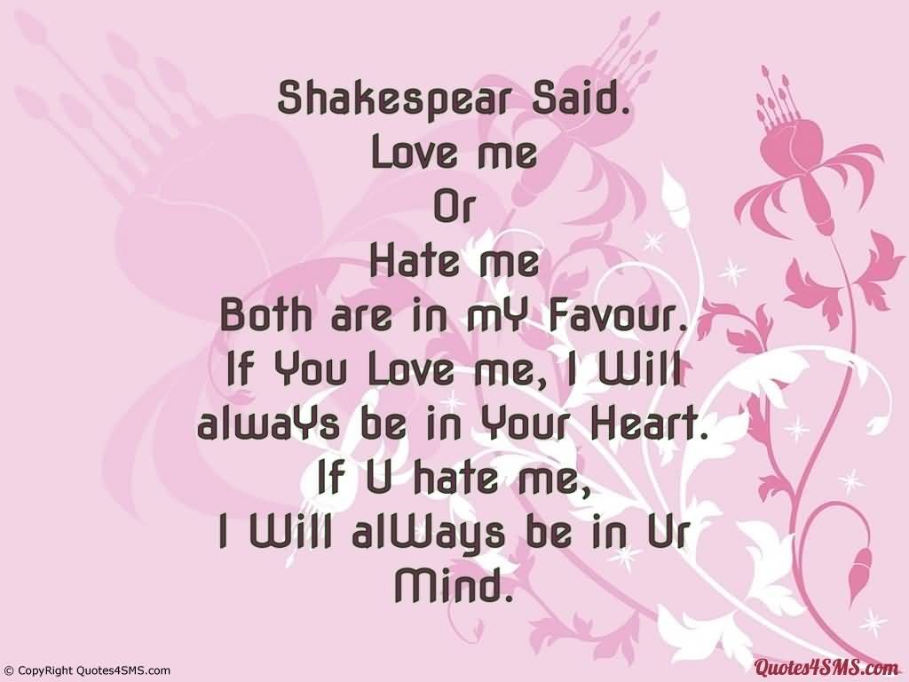 Hate That I Love You Quotes: Hate Begets Hate; Violence Begets Violence; Toughness