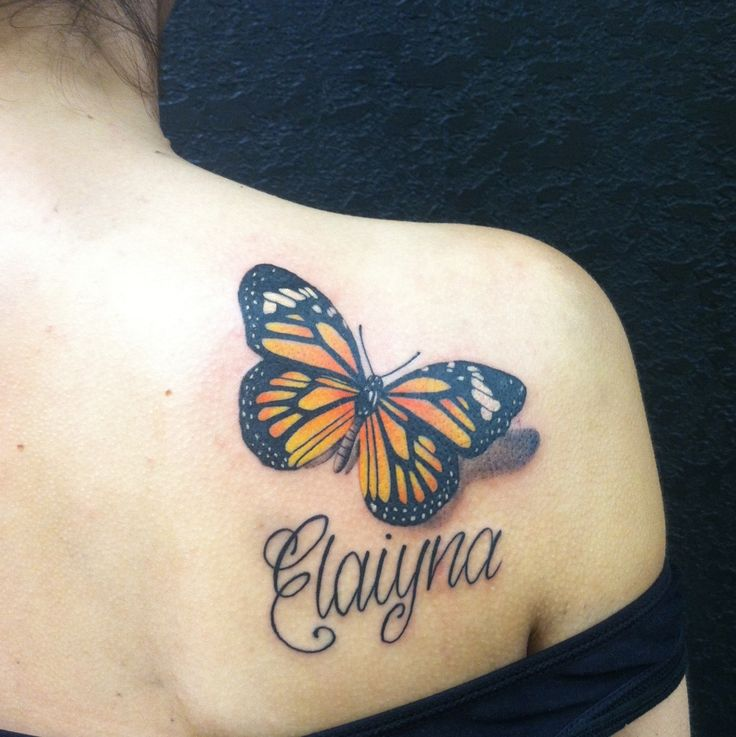 Monarch Butterfly On Flower Tattoo 36+ Monarch Butterfly ...