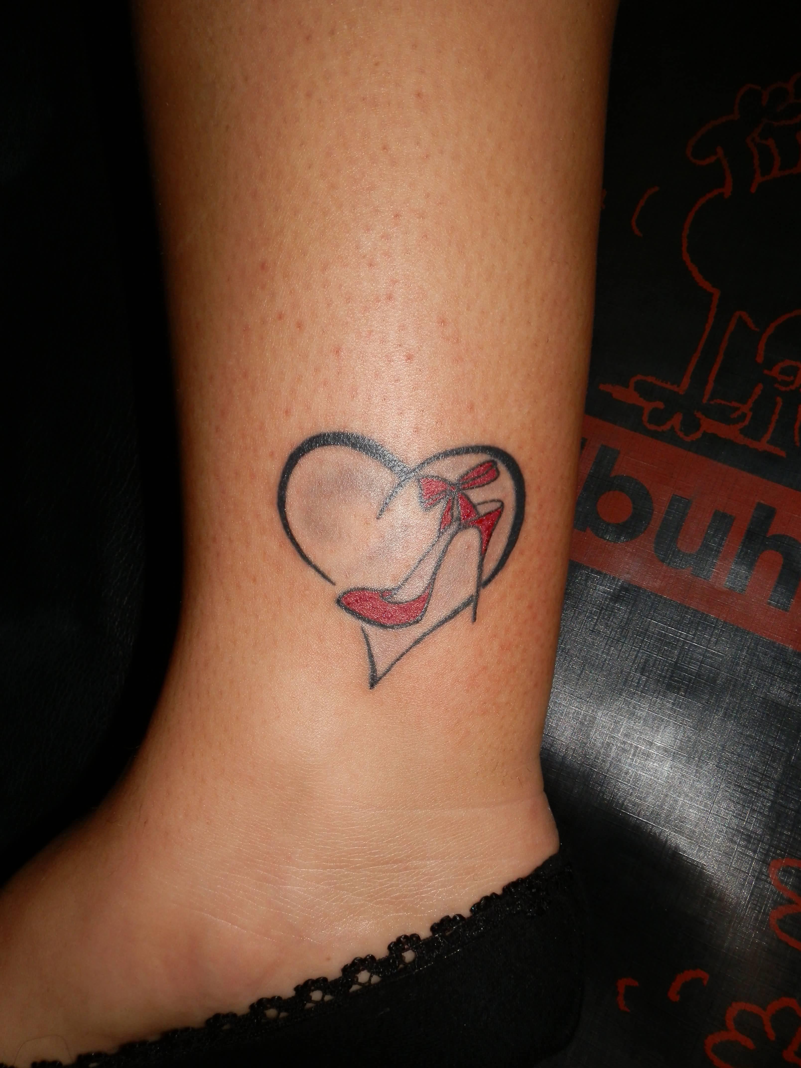 50 heart ankle tattoos. Black Bedroom Furniture Sets. Home Design Ideas