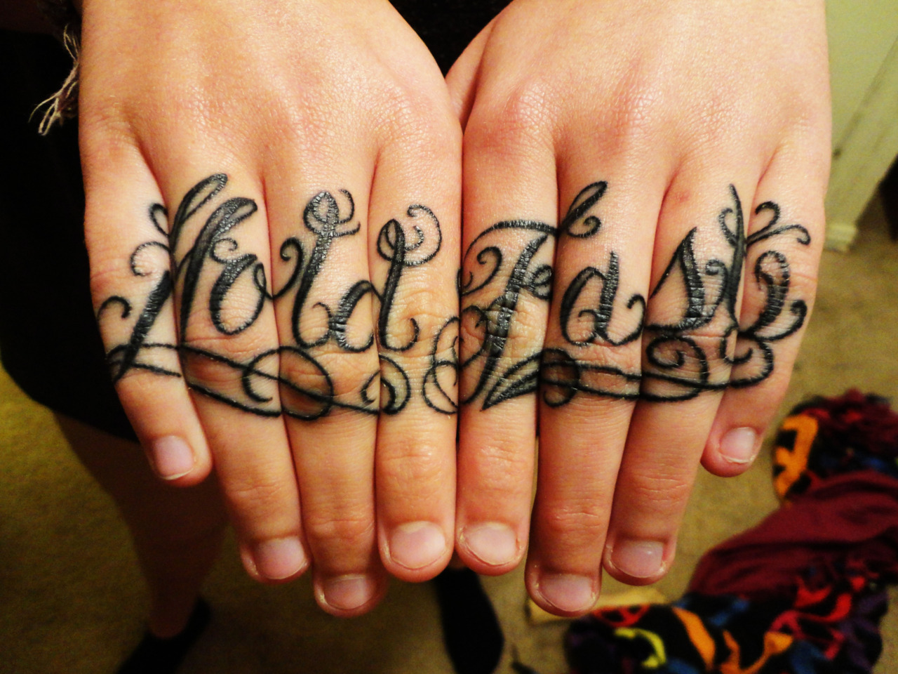 71 latest knuckle tattoos ideas for Hold fast tattoo