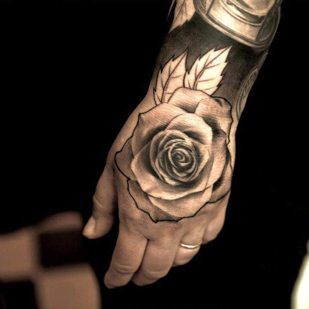 31 rose tattoos on hands for men. Black Bedroom Furniture Sets. Home Design Ideas