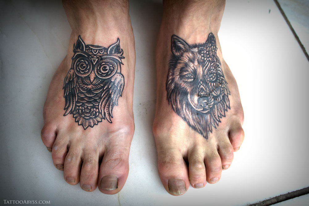 60+ Owl Tattoos Ideas For Foot