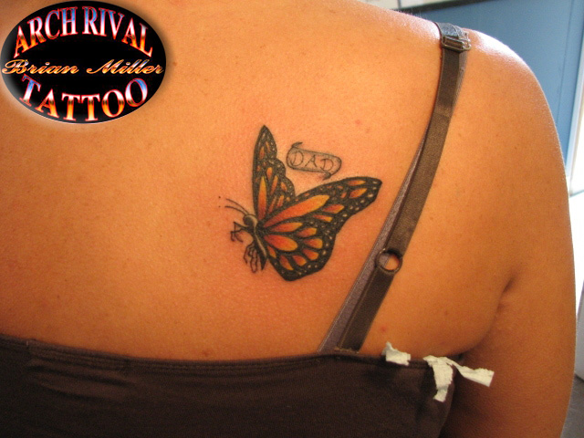 36 monarch butterfly tattoos for Butterfly memorial tattoos