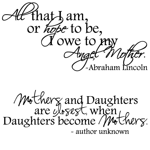 Mother And Daughter Quotes And Sayings