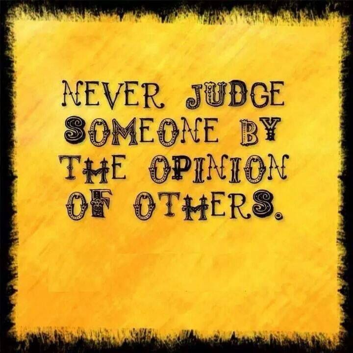 one should never judge a person by external appearances