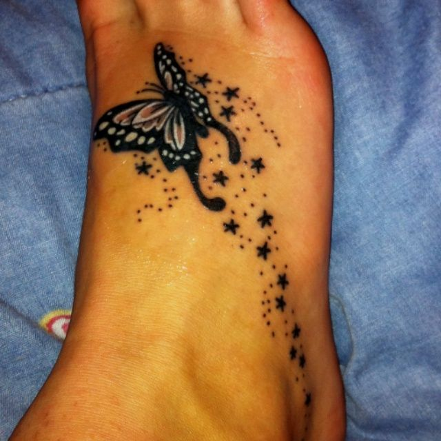 My Tattoo Designs Butterfly Foot Tattoos: 21+ Star Butterfly Tattoos On Foot