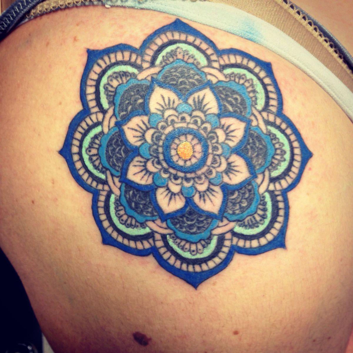 Tattoo Ideas Color: 38+ Colored Mandala Tattoos Collection