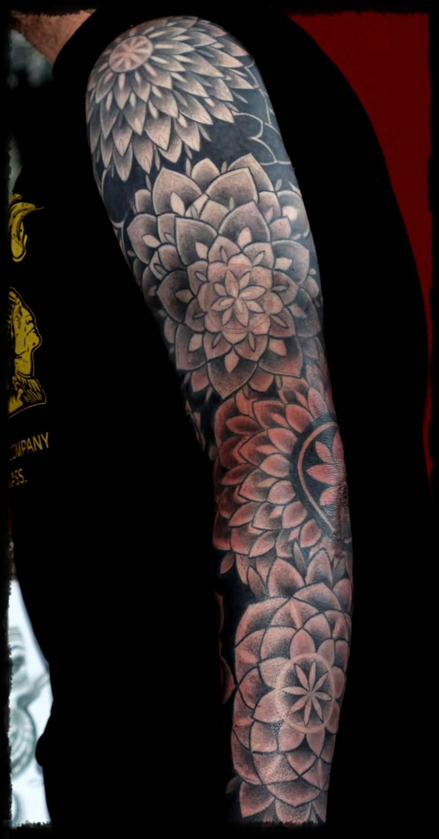 35 full sleeve mandala tattoos nice full sleeve mandala flowers tattoo by louis santos familia izmirmasajfo