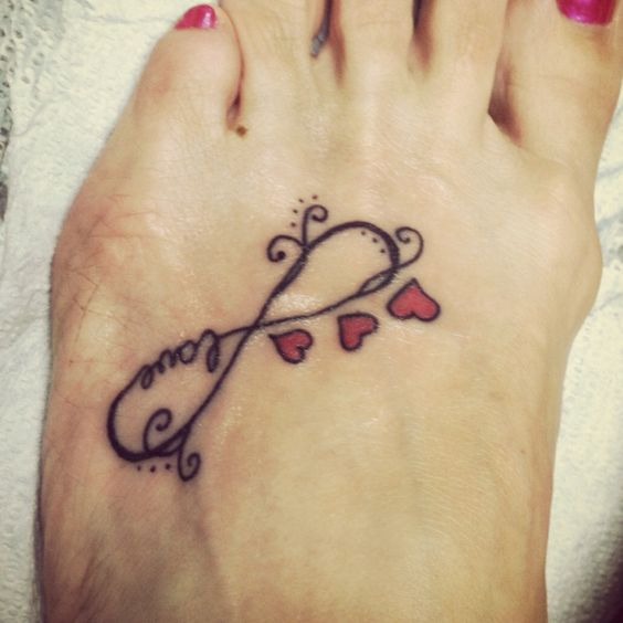 Infinity Love Tattoo On Foot 15+ Infinity Fo...