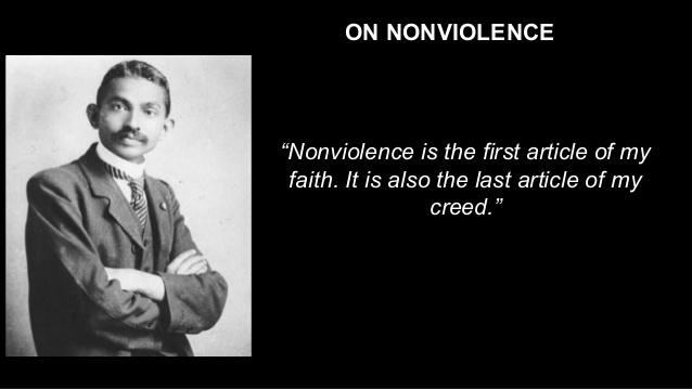non violence and way it is This lesson introduces students to martin luther king, jr's philosophy of nonviolence and the teachings of mohandas k gandhi that influenced king's views.