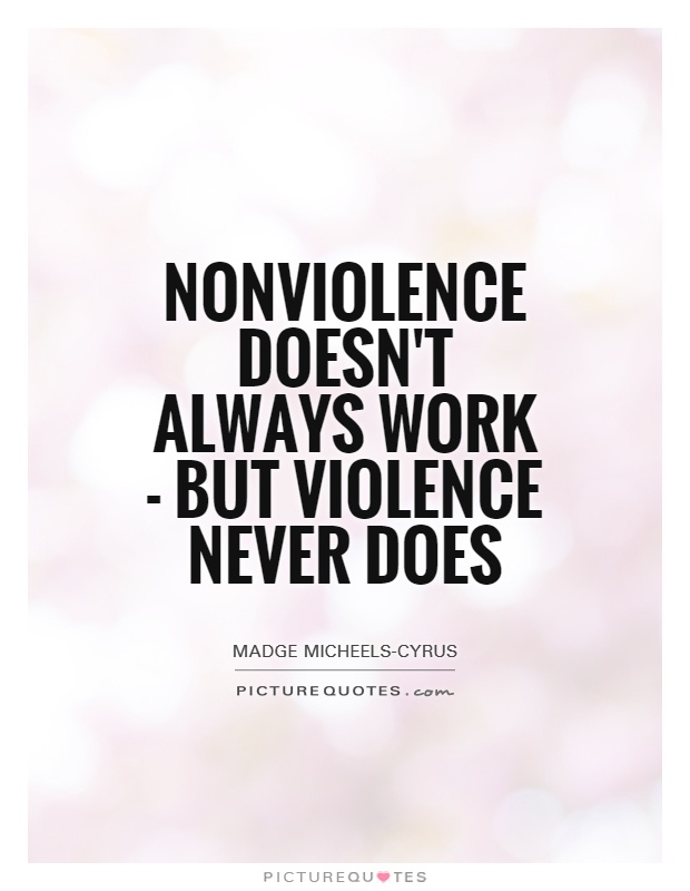 How effective is non-violence does it work?