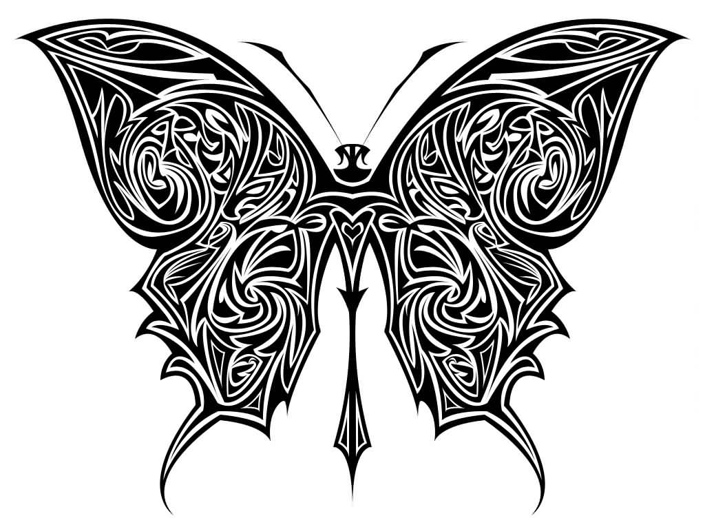 45+ Tribal Butterfly Tattoo Designs