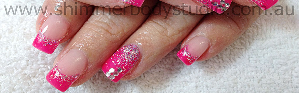 70 most beautiful gel nail art ideas pink glitter gel nail art prinsesfo Image collections