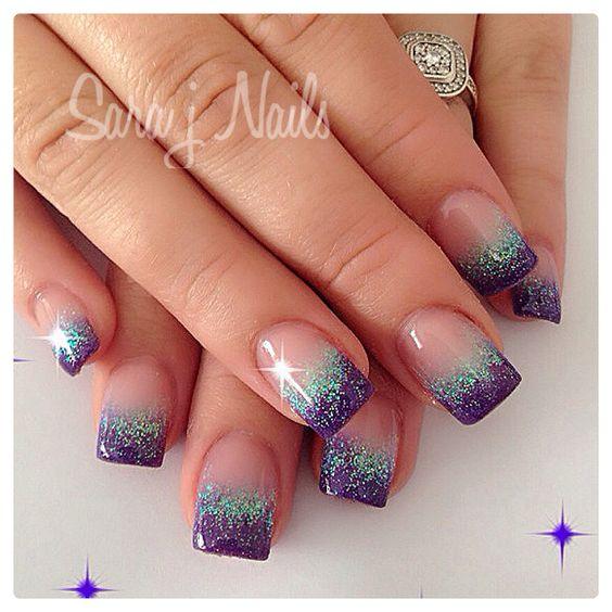 57 Most Beautiful Glitter Nail Art Design Ideas: 70 Most Beautiful Gel Nail Art Ideas