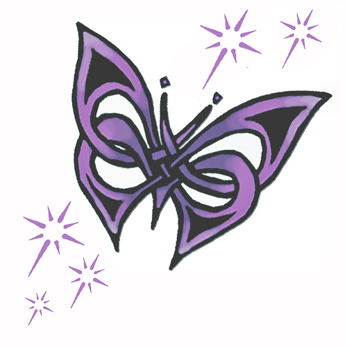 Purple butterfly tattoo - Tattooimages.biz