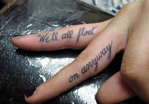 f7e8465919660 Quote Words Tattoo On Fingers For Girls