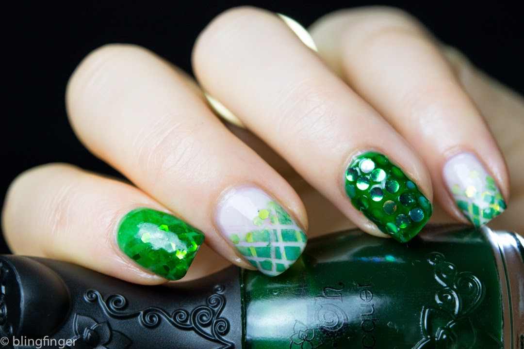 Rhinestones Design Saint Patrick\'s Day Nail Art