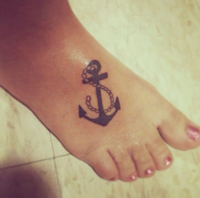 ff53c13c242fc Rope With Anchor Tattoo On Right Foot