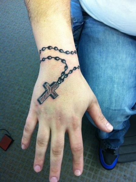 32 Rosary Tattoos On Wrists
